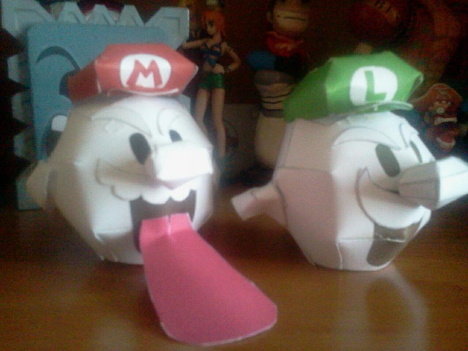 Super Mario e Luigi Galaxy 2 Boo Papercraft by ANTONIOMASTERPERES