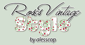 Roses Vintage Style Photoshop