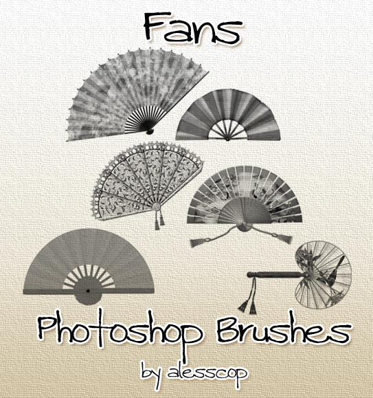 Fans Photoshop Brushes by alesscop