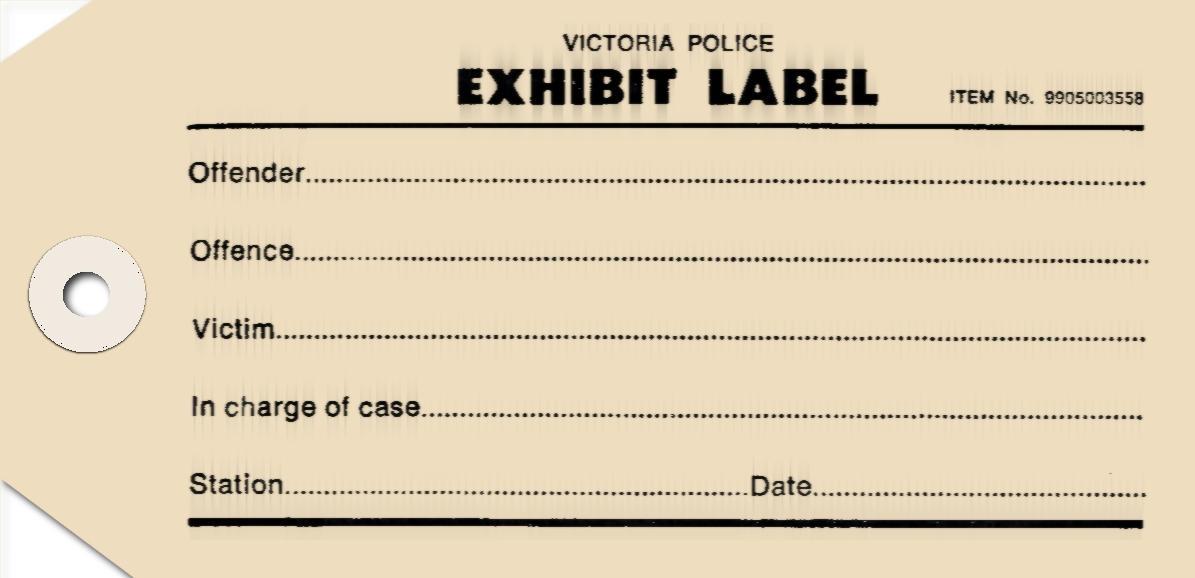 Criminal Exhibit Tag - Prop by shok75