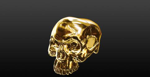 Gold Skull 3D Animation