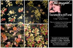 Textures Black Florals Pack