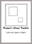 Stamp Templates Square