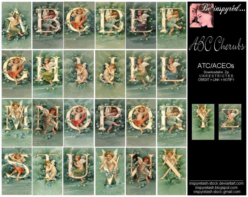 ATC - ABC Cherubs by Bnspyrd