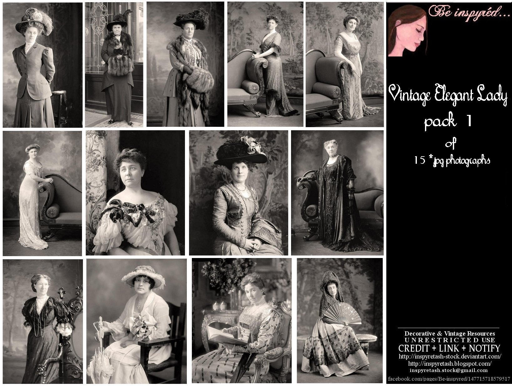 Vintage Elegant Lady Pk1 by Bnspyrd