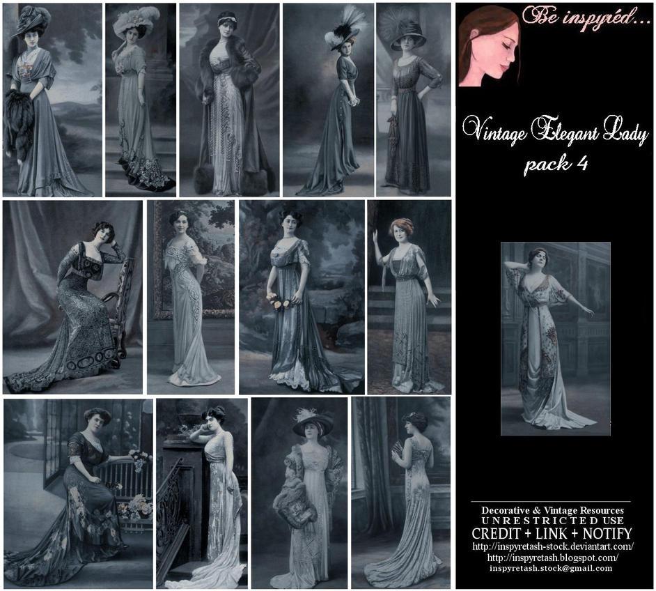 Vintage Elegant Lady Pk4 by Bnspyrd