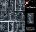 Vintage Elegant Lady Pk4