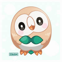 Rowlet by LadyCibia