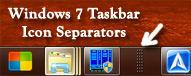Windows 7 Taskbar Separator by directwebplus