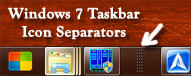 Windows 7 Taskbar Separator