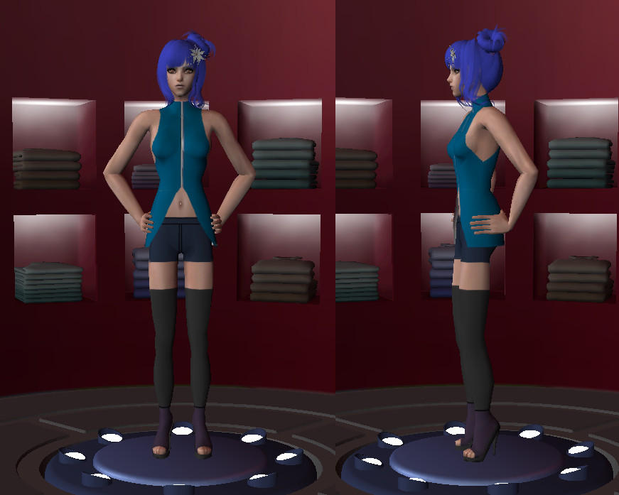 Konan sims 2 outfit by linkfangirltpoot