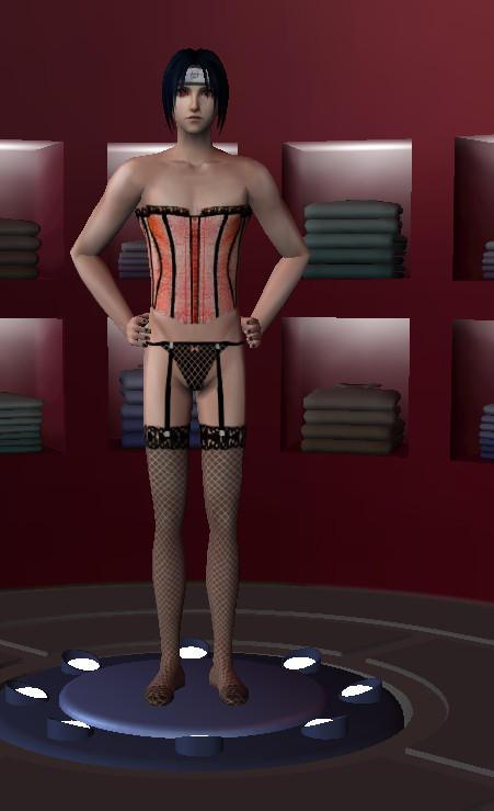 He's wearing ladies underwear! Sims 2 by linkfangirltpoot