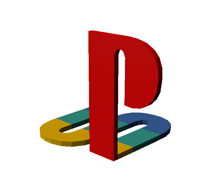 PlayStation Logo (3D Model Download)