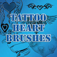 Tattoo Heart Brushes by fighting4freedom