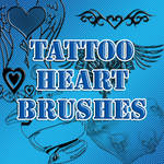 Tattoo Heart Brushes