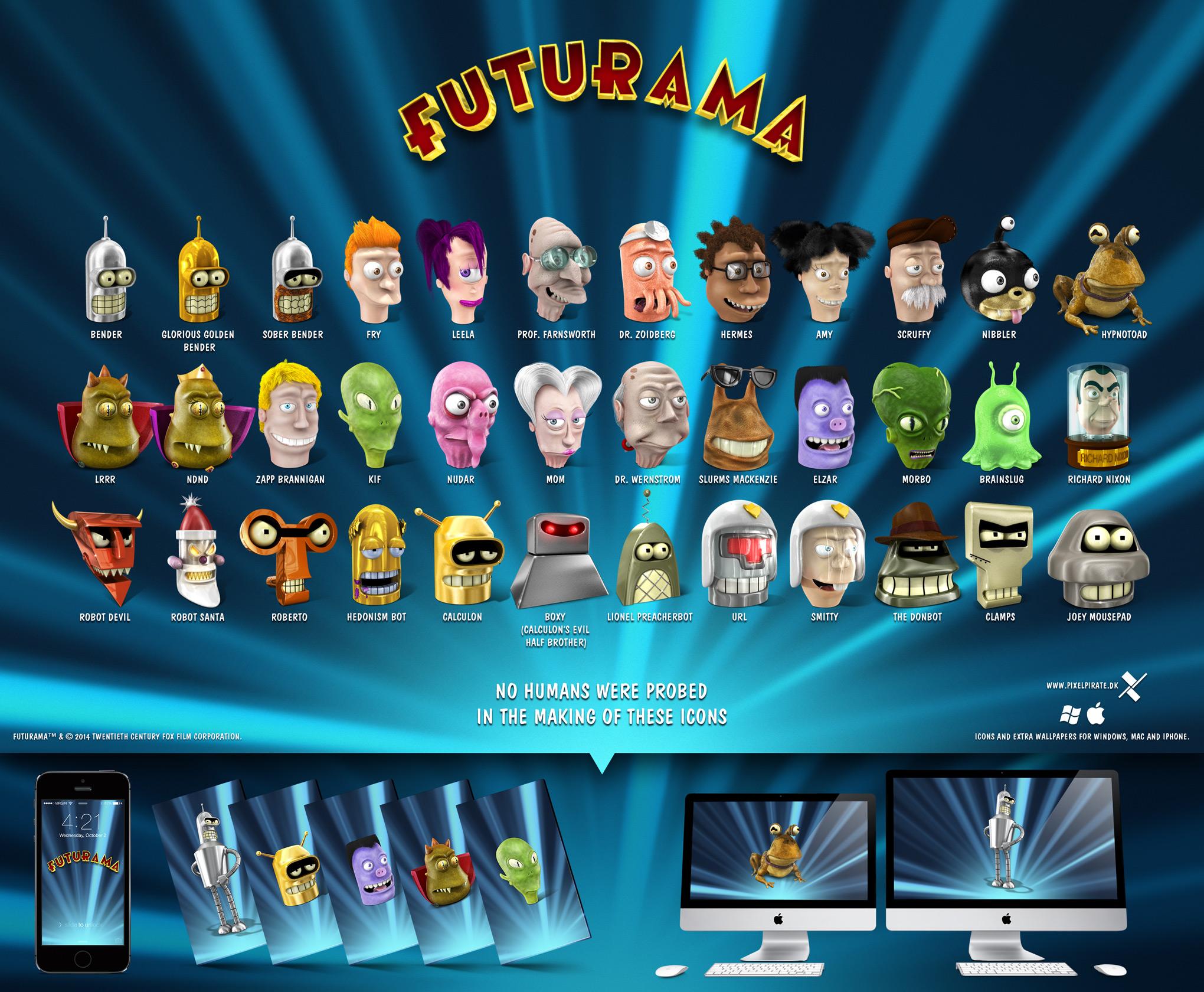 downloadable futurama wallpapers