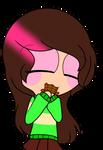 ~Me as chara eating chocolate pagedoll