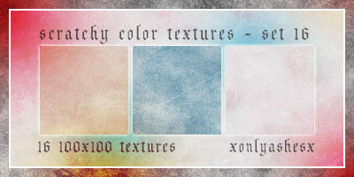 Texture Set 16 by xonlyashesx