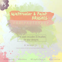 LFL Resources. Watercolor and Paint Ps Brushes. by NataliaLfl
