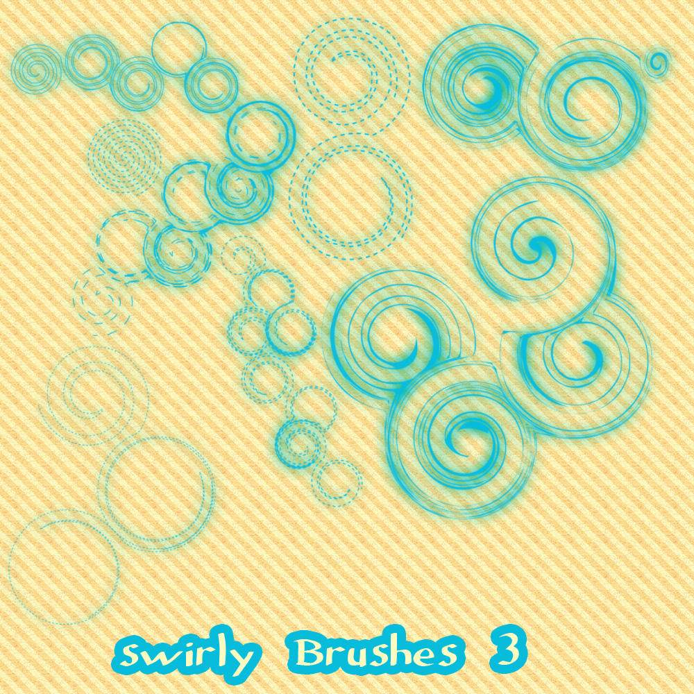 Swirl Brushes Set 3 by wilmacki
