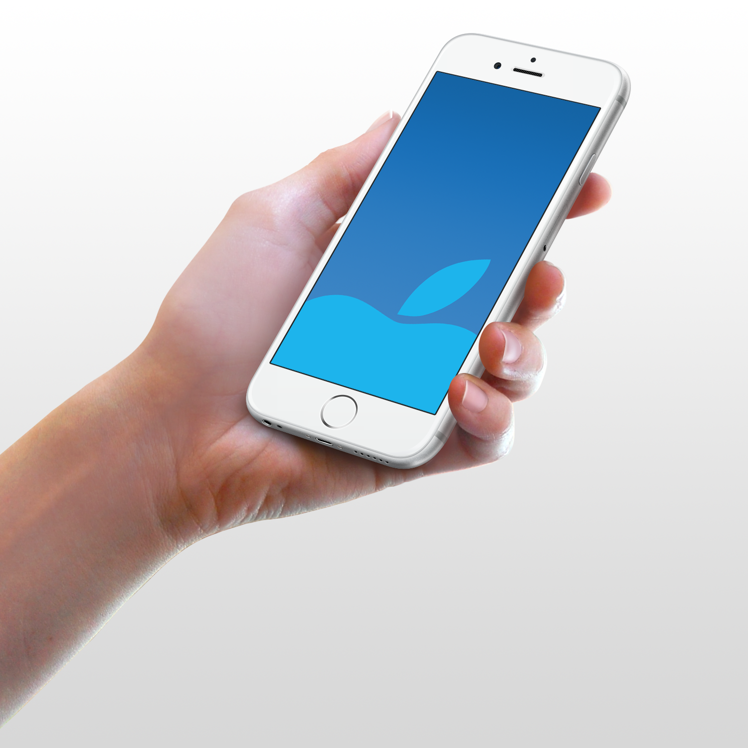 Blue Apple Wallpaper For IPhone 6 And Plus By Kiwimanjaro