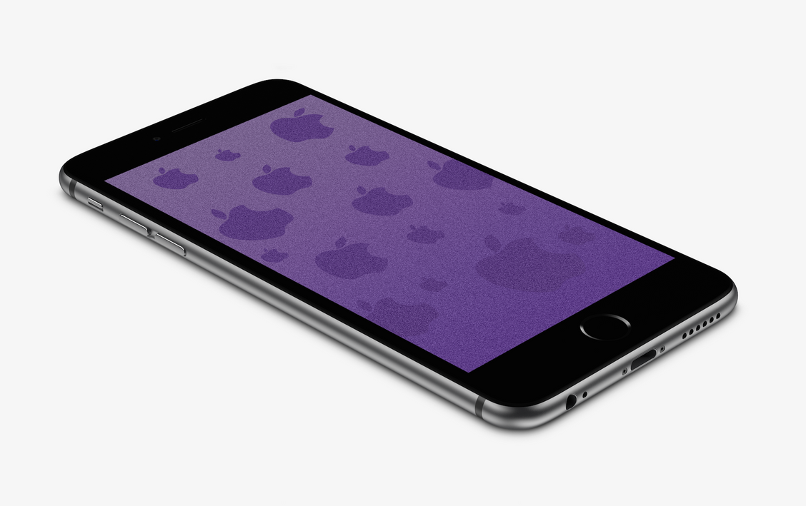 Purple Sandy Apple Wallpaper For IPhone 6 And 6+ By