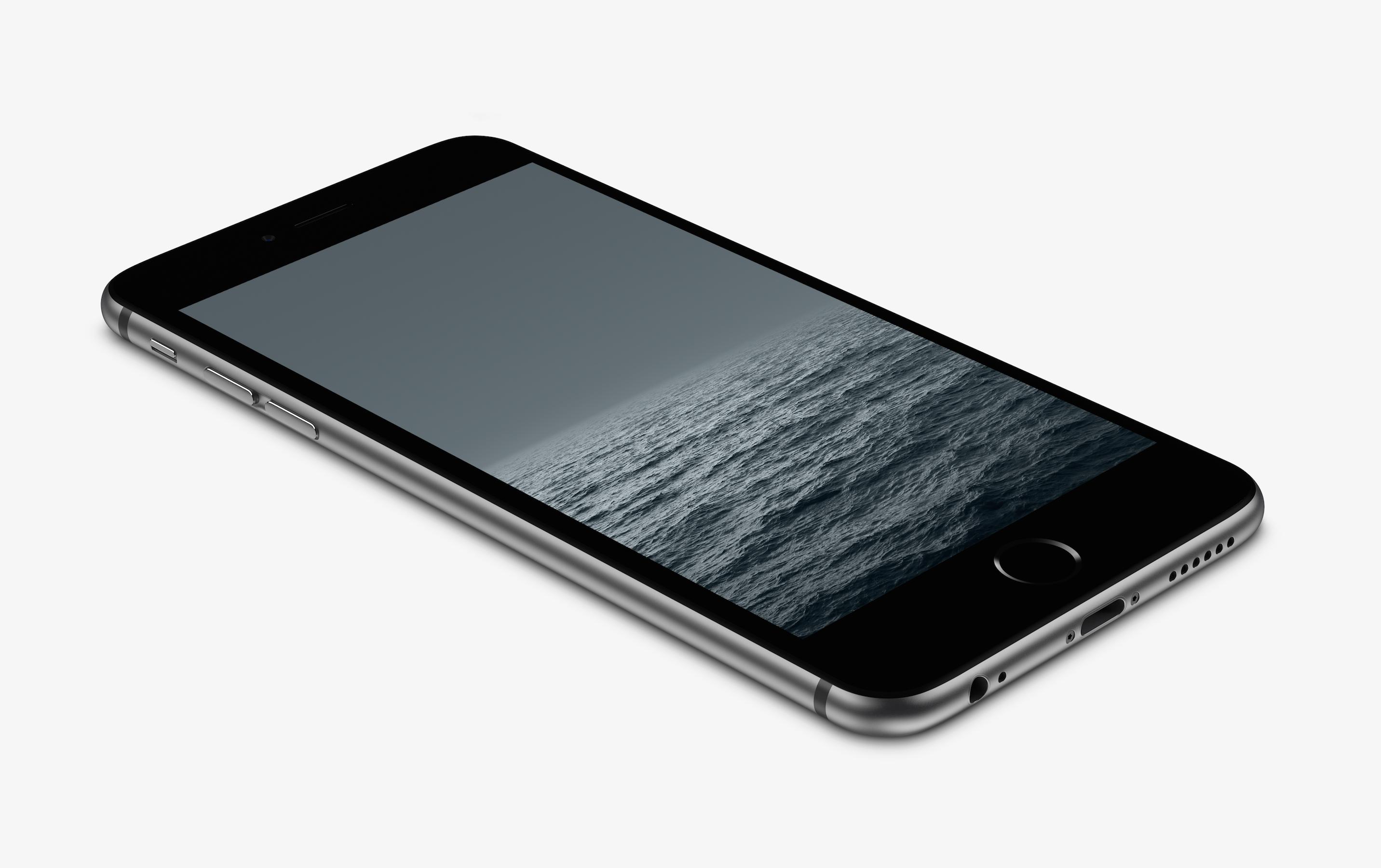 Grey horizon wallpaper for iphone 6 and 6 plus by for Iphone 6 architecture wallpaper
