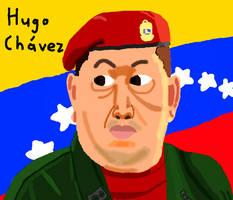 Hugo Chavez drawing on Muro