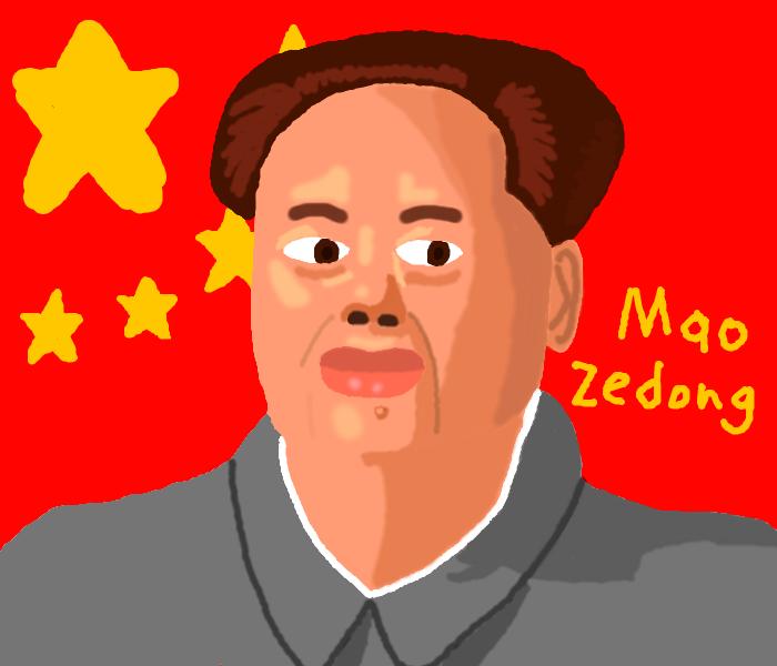 Mao Zedong (aka Mao Tse-Tung) by DragonQuestWes