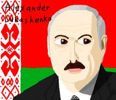 Alexander Lukashenko Drawing on Muro