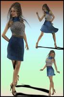 JeanOlogy 01 Chic Halter Dress by DiYanira