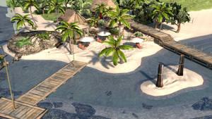 DOA5 Last Round Zack's Island V2 XPS by Deluwyrn