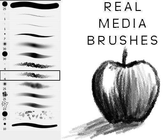 Real Media Mini Brush Set by Stalcry