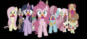 Vector #541 - Rainbow Cookie Zombies