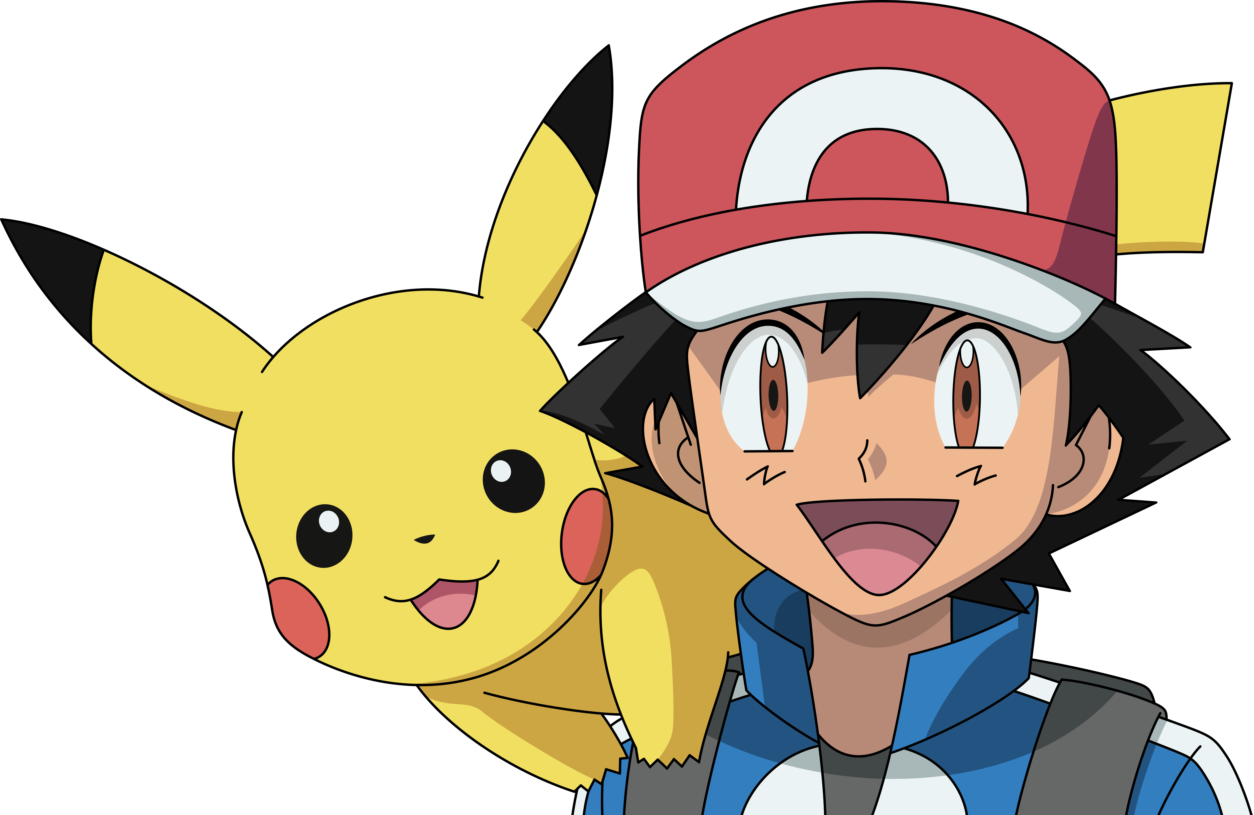 how to draw ash ketchum and pikachu