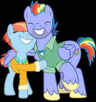 Vector #695 - Rainbow's Parents by DashieSparkle