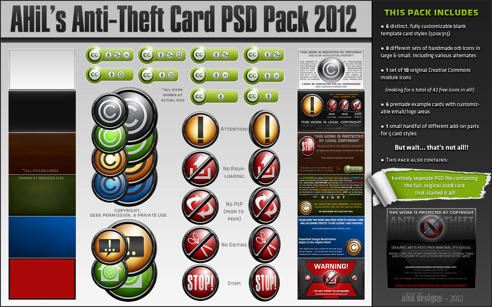 AHiL's Anti-Theft Card PSD Pack by JesseLax