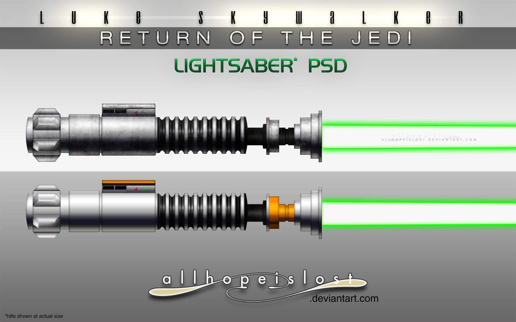AHiL-LS RotJ Lightsabers PSD