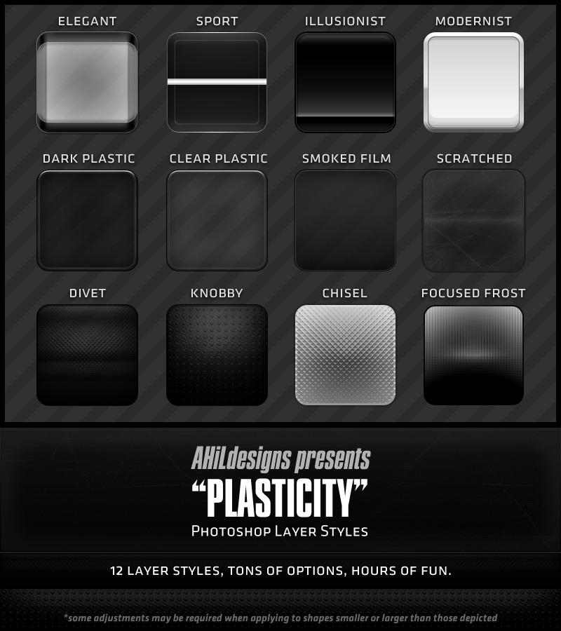 AHiL's Plastic PS Layer Styles