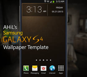 AHiL's Samsung Galaxy S4 Wallpaper Template