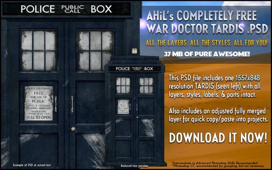 AHiL's War Doctor TARDIS PSD