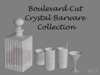 Boulevard Cut Crystal Barware (Collection) by KoDraCan