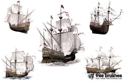 Ancient Warships Brush Set by free-brushes