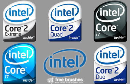 Intel's Processor Logos by free-brushes