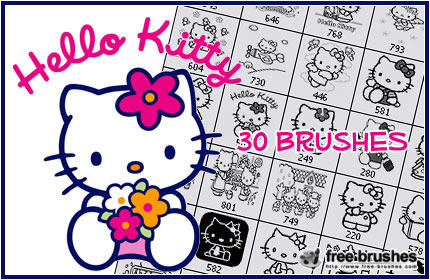 Hello Kitty Brushes by ~free-brushes on deviantART