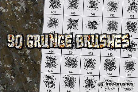 Thirty Grunge Brushes by free-brushes