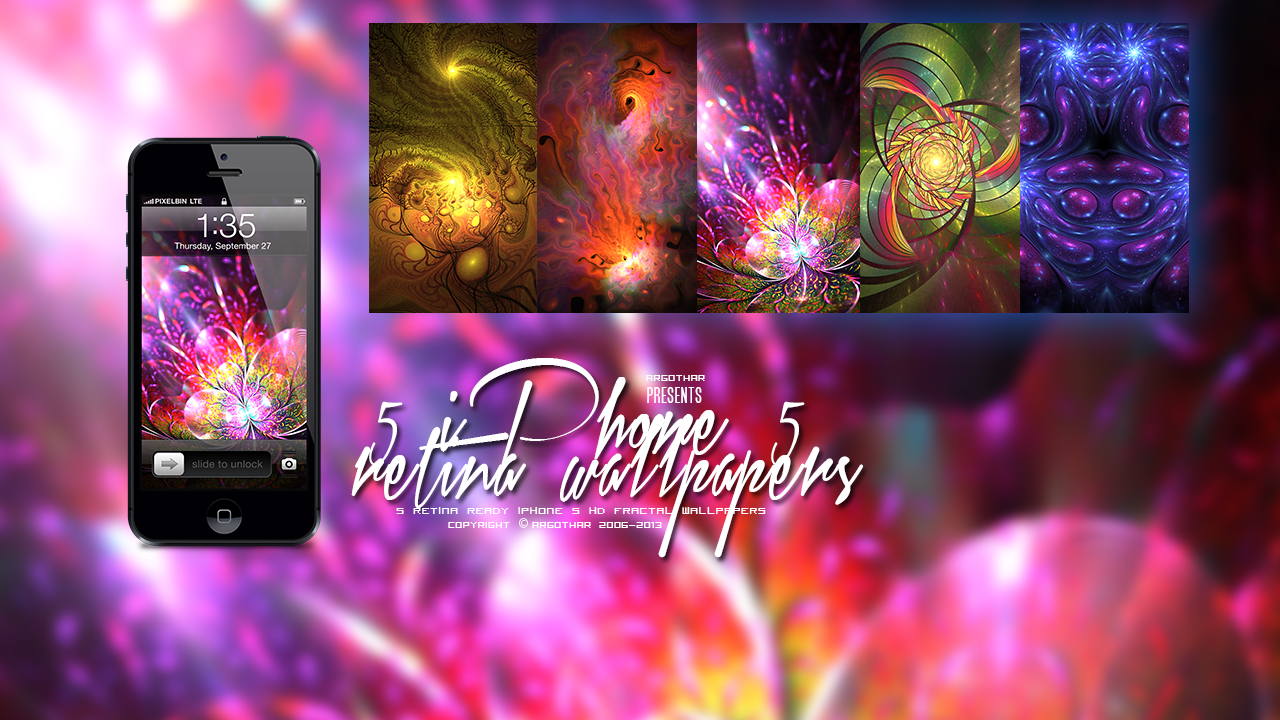 Fractal iPhone 5 Retina Wallpapers Pack by Argothar