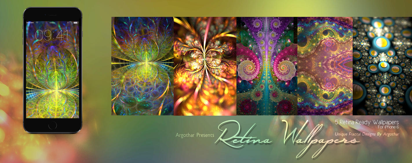 Fractal iPhone 6 Retina Wallpapers Pack by Argothar