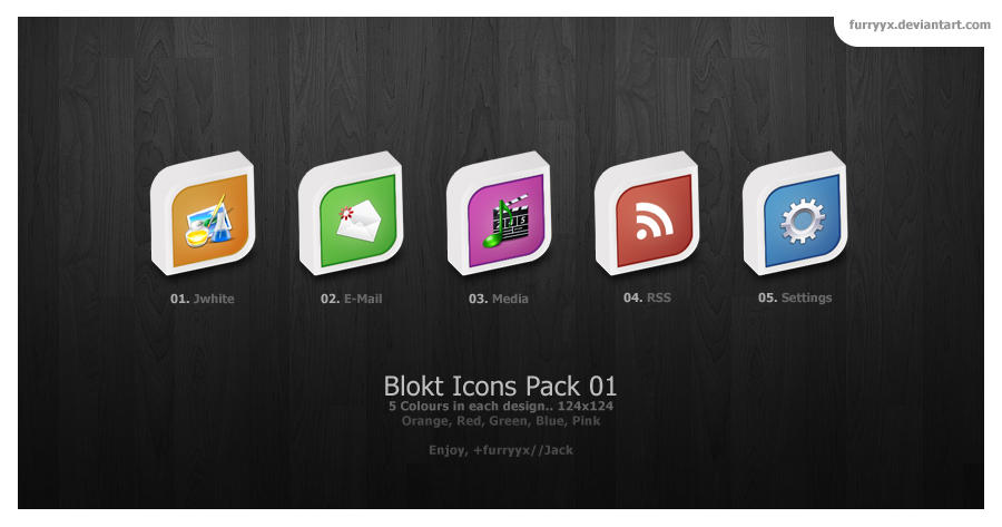 Blokt Icon Set 01 by furryyx