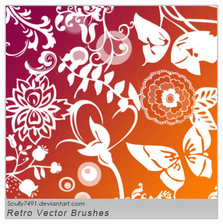 Retro Vector Shapes Brushes by Scully7491 Photoshop Shapes : Free Resources